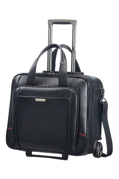 Pro-Dlx 4 Lth Rolling laptop bag Black