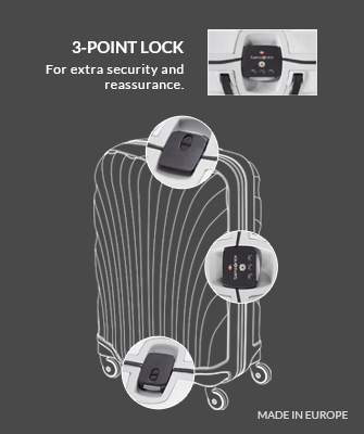 3-point lock | For extra security and reassurance.