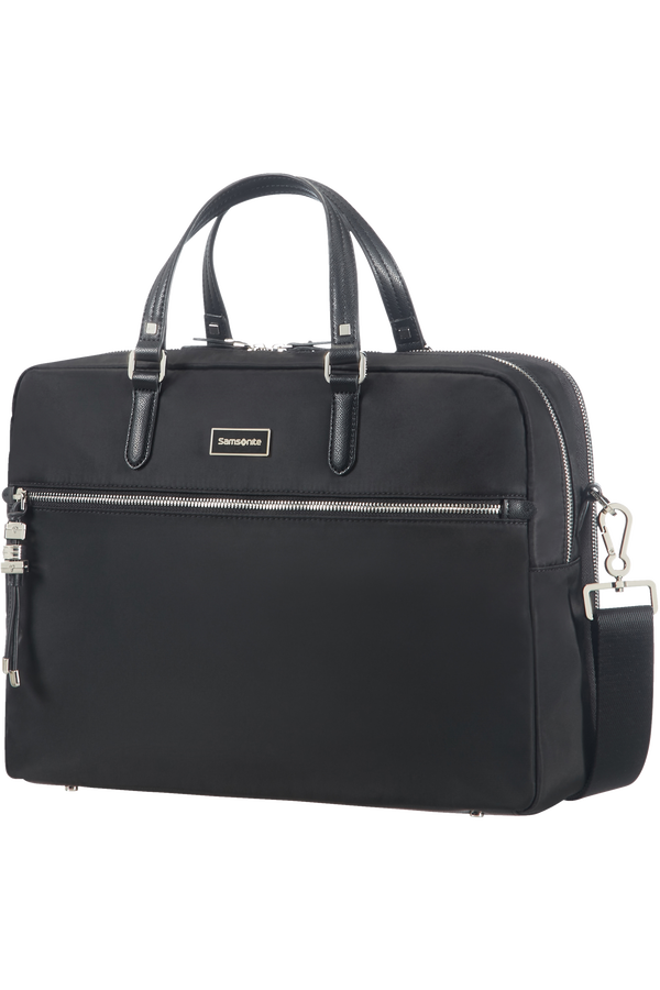 Samsonite Karissa Biz Bailhandle with 2 Compartments  15.6inch Black