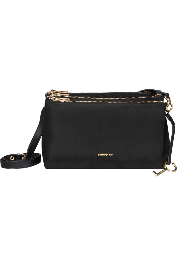 Samsonite Skyler Pro Horizontal Shoulder Bag 3 Comp S  Black