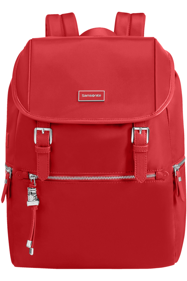 Samsonite Karissa Biz Backpack 14.1'+Flap W/Usb  Formula Red