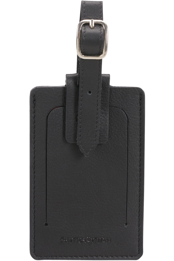 Samsonite Global Ta ID Leather Luggage Tag Black