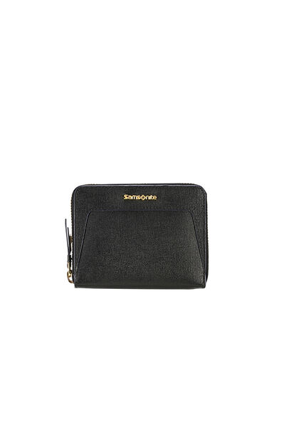 Lady Saffiano II SLG Wallet Black