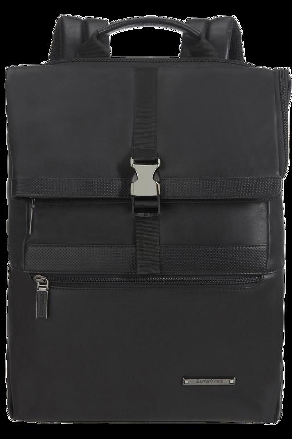Samsonite Asterism Lth Laptop Backpack Flap Slim  15.6inch Black