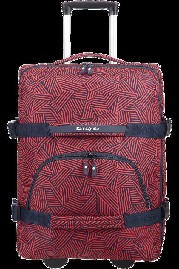 Samsonite Rewind Duffle with wheels 55cm  Capri Red Stripes