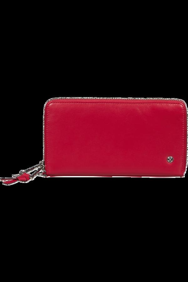 Samsonite Dame Jolie Slg 319 - L Zip Around L  Cherry Red