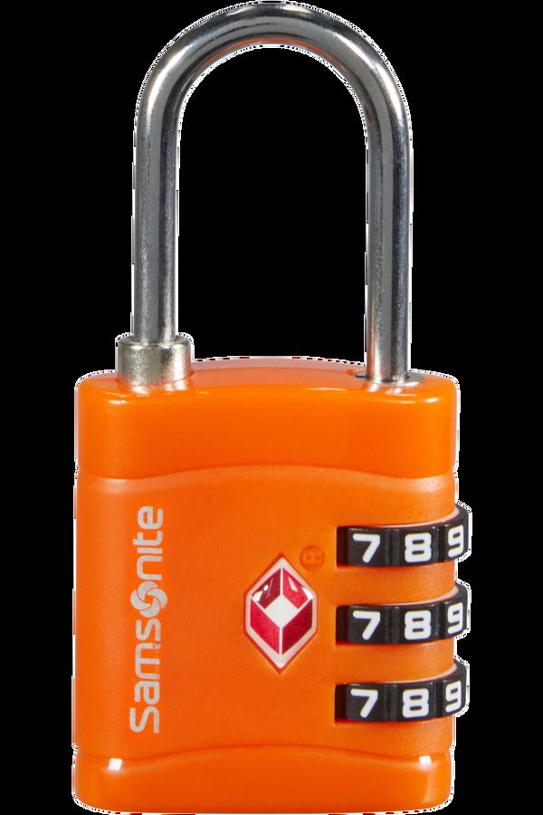 Samsonite Global Ta Combilock 3 dial TSA light Orange