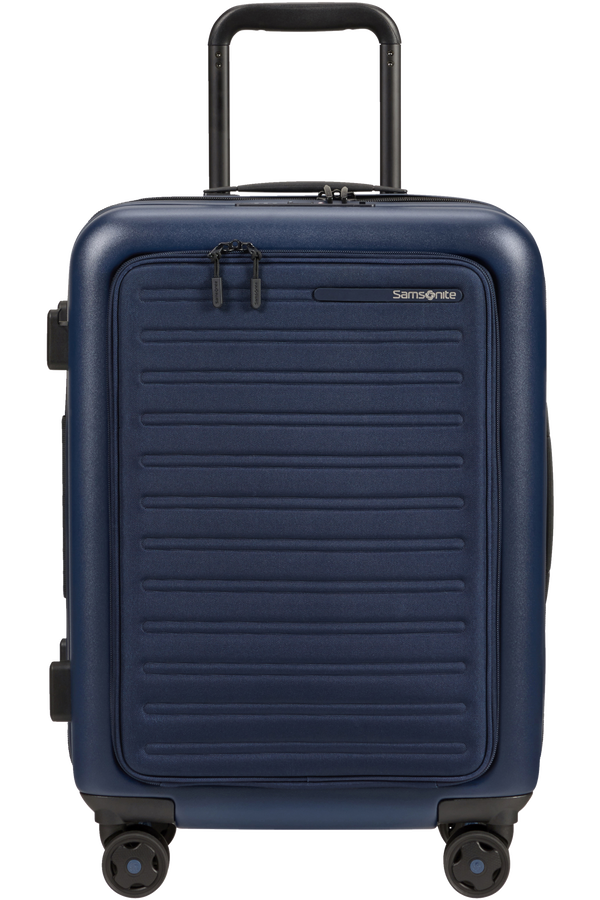 Samsonite Stackd Spinner Expandable Easy Access 55cm  Navy
