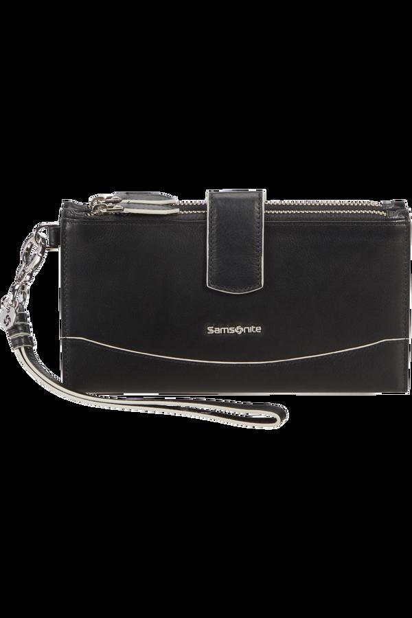 Samsonite Leathy Slg 333 - L F W W+DBL Zipper  Black