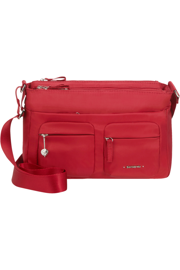 Samsonite Move 3.0 Horiz Shoulder Bag + Flap  Dark Red
