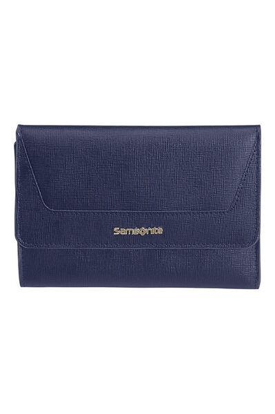 Lady Saffiano II SLG Wallet Midnight Blue