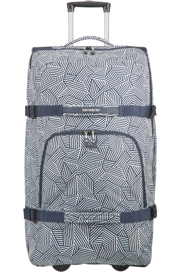 Samsonite Rewind Duffle with wheels 82cm  Navy Blue Stripes