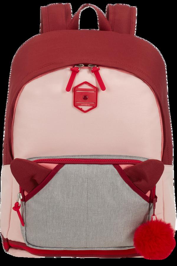 Samsonite Sam School Spirit Backpack L  Burgundy Pink Mascot