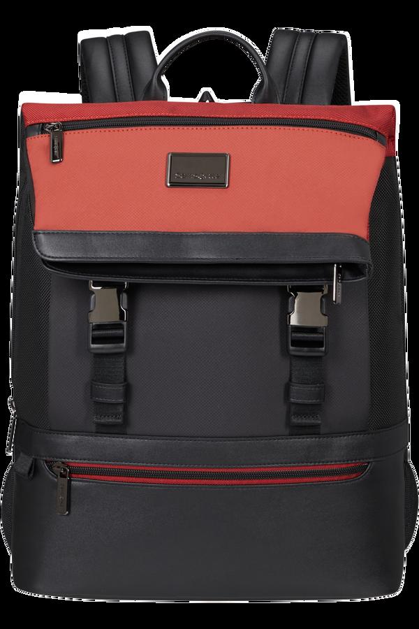 Samsonite Waymore Laptop Backpack Flap Slim 15.6'  Barn Red/Black