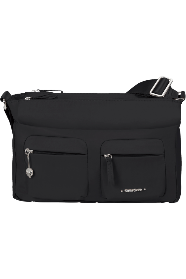 Samsonite Move 3.0 Horiz Shoulder Bag + Flap  Black