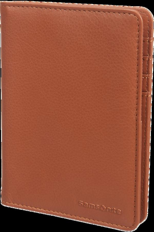 Samsonite Global Ta ID Leather Passport Cover  Cognac