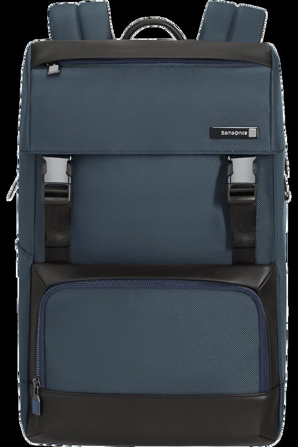 Samsonite Safton Laptop Backpack Flap  15.6inch Blue