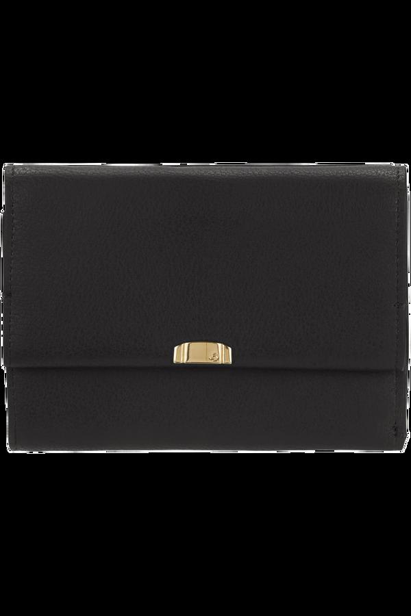 Samsonite Satiny 2.0 Slg Wallet 12CC+ZIP Ext M  Black