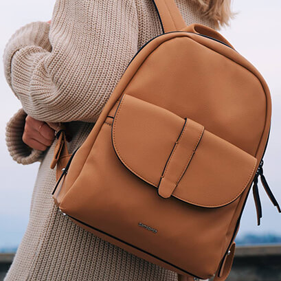 Stand-out style   clea cartier with our Shammy backpack in Cognac. Samsonite  mysamsonite 08631a3ab3613