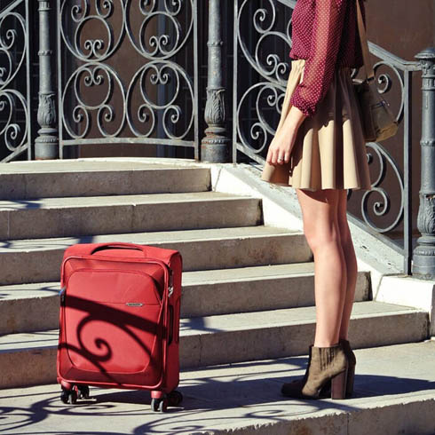 Elegant red for an unforgettable journey.