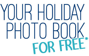 Your holiday photo book for free*