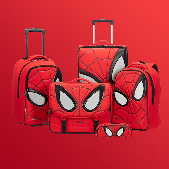Swing into action with this amazing Spider-Man luggage collection from Marvel by Samsonite!