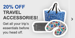 20% off travel accessories!