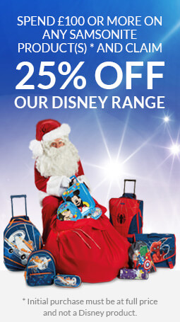 Spend £100 or more on any Samsonite product(s) and get 25% off our Disney range!