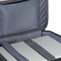 Functional laptop and tablet compartment on all models.