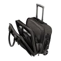 Single compartment construction with laptop pocket, fitting laptops up to 14.1″.
