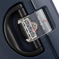 Three-point TSA combination lock for secure travel to the USA.